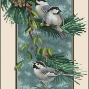 Dimensions 03199 Chickadees on a Branch